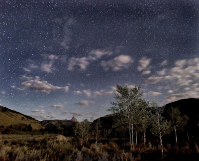 Teton Canyon In Moonlight