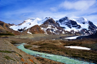 Smith Icefield And Athabascian Glacier