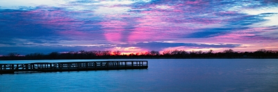Sunset Panorama Lake Afton