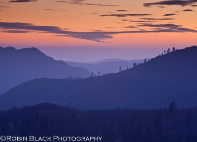 Last Light On Big Oak Flat (yosemite)