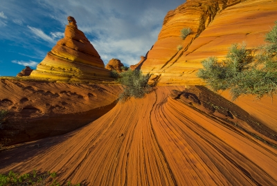 Crossbedding And Turret At Coyote Buttes
