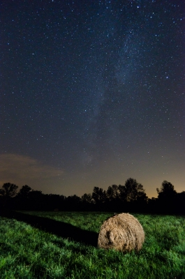 Milky Way And Hay Bale
