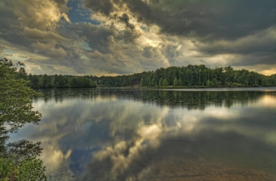 Reflections On A Stormy Summer Afternoon
