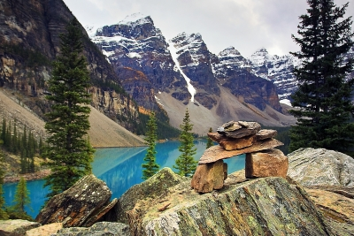 Valley Of The Ten Peaks Inukshuk
