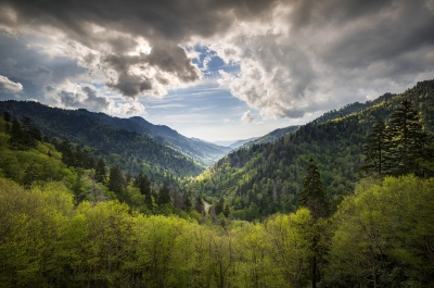 Smoky Mountains Landscape Photography – Spring At Mortons Overlook