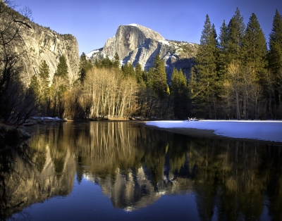 Half Dome Reflected