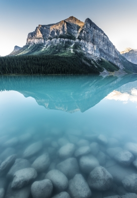 Lake Louise Above And Below.