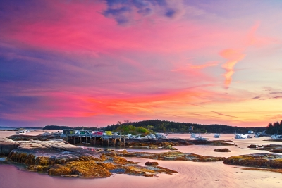 Maine, Deer Isle, Fishing Village, Acadia National Park, Sunset