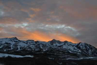 Fiery Sunset At Trappers Loop