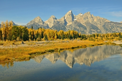 Teton Peaks Reflection