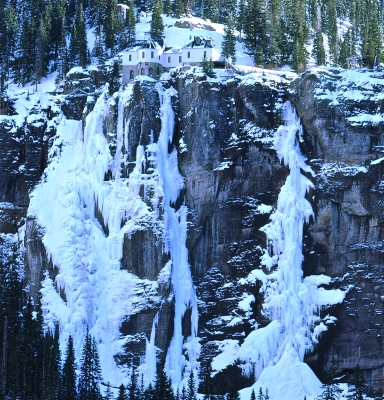 Bridal Veil Falls In Winter