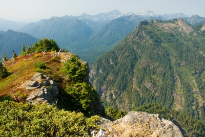 Mount Dickerman With Distant Three Fingers View