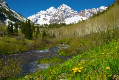 Maroon Bells In Spring