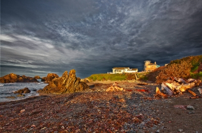 Thunderstorm Coming, California, Crescent City, Battery Point