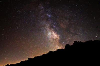 The Milky Way Above The Mountain