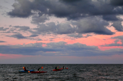 Sunset Kayaking On Lake Huron