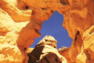 Sky Through Sandstone Formation