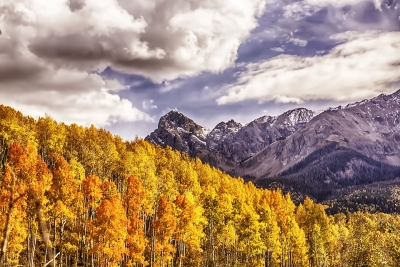 Gathering Autumn Storm Over Mt.sneffles San Juan Mountains Colorado