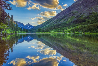 Reflection At Two Medicine Lake, Glacier Np