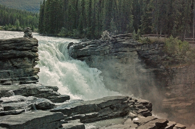 Athabasca Falls Up Close