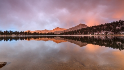Golden Trout Wilderness Sunset Reflection
