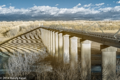 High Trestle Bridge In Infrared