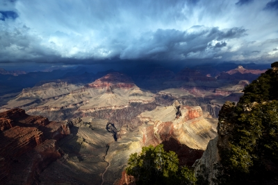 Blue Storm Clouds – Hopi Point, South Rim – Grand Canyon National Park