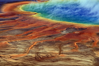 Grand Prismatic Spring Close Up