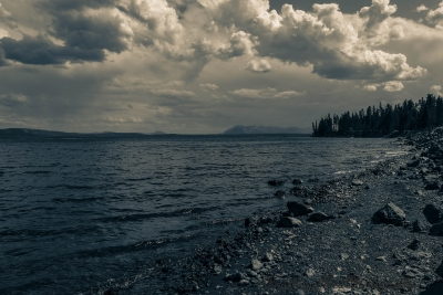 Afternoon Clouds Over Yellowstone Lake
