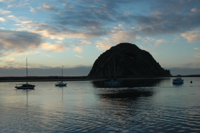 Days End At Morro Rock