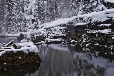 Snow At Strawberry Hot Springs