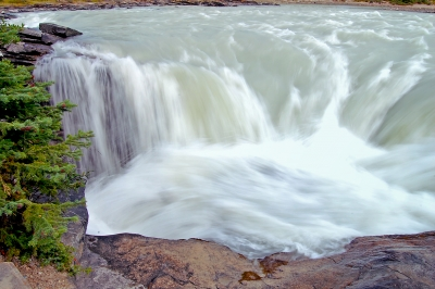 Athabasca Falls Flowing Full Force!!
