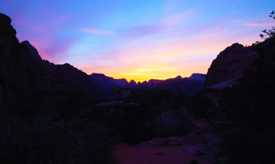 Glorious Sunset Over Zion