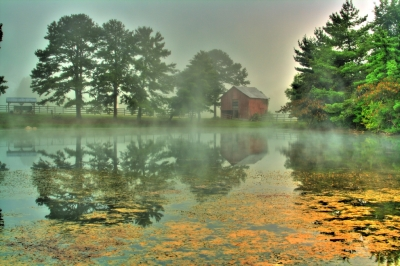 Red Barn Fog