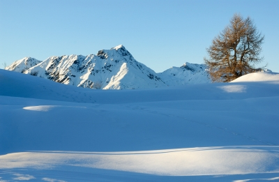 Last Winter Days On The Heights Above Trivigno.