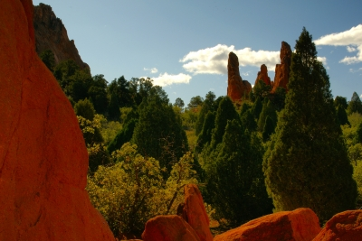 Autumn Day In Garden Of The Gods