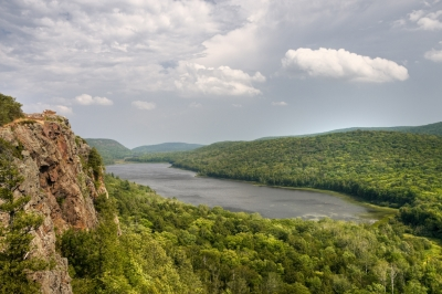 Lake Of The Clouds At Porcupine Mountain State Park
