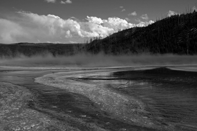 Grand Prismatic And Clouds