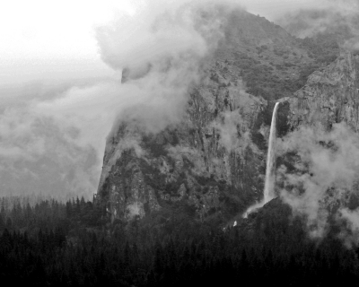 Foggy Bridalveil Fall – Yosemite