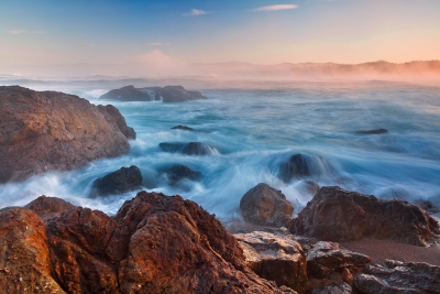 California, Northern Coastline, Mackerricher State Park, Sunrise