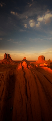 Last Light At Monument Valley