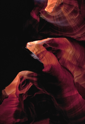 Red Fingers In Upper Antelope Canyon