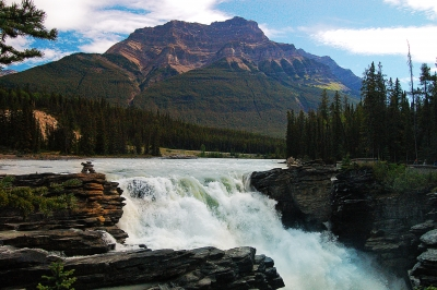 Athabasca Falls Scenic View