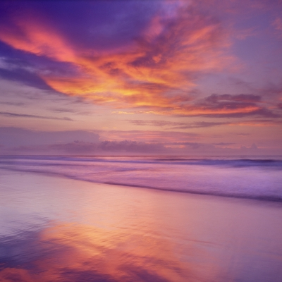 Sky And Surf Sheen Reflections