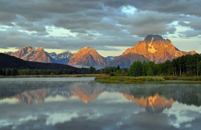 Early Light On Mt. Moran