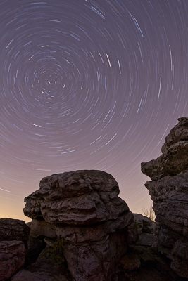 Star Trails Over Big Schloss Mountain