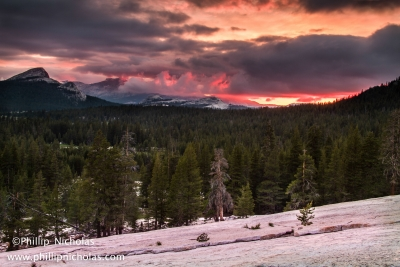 Sunset Over Tuolumne 2013