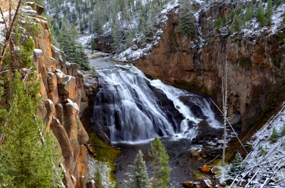 Gibbon Falls Yellowstone National Park