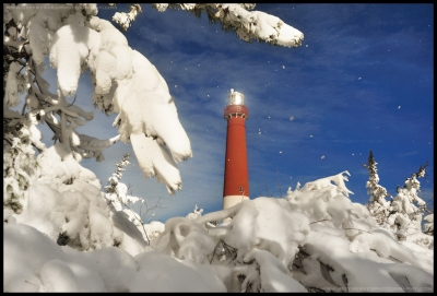 Barnegat Light After Blizzard