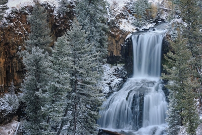 Undine Falls In Winter